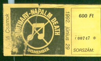 obituary-napalm death-dismember 1992