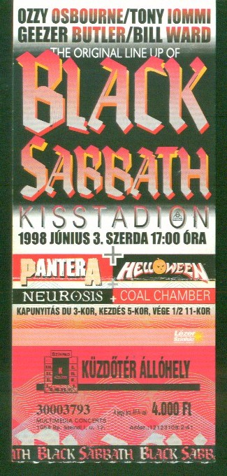 black sabbath-pantera-helloween-neurosis-coal chamber 1998
