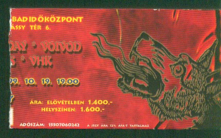 voivod-neurosis-today is the day-vhk 1999