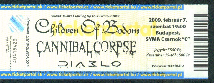 children of bodom-cannibal corpse 2009